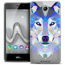 Coque TPU Gel Pour Wiko Tommy Polygon Animal Souple Fin Loup
