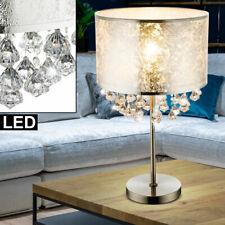 2er Set Nacht Schreib-Tisch Leuchte Kristall Design Lampe Dimmbar Beleuchtung