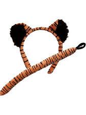 Adulto Tigre Orecchie & Coda Set Costume Giungla Libro Settimana Zoo Animale Selvatico TIGRO