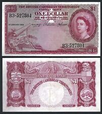 BRITISH CARIBBEAN TERRITORIES  P7***1 DOLLAR***ND 1958***AU+***LOOK SUPER SCAN