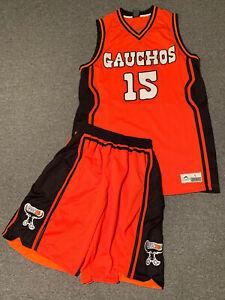 New York Gauchos Basketball Jersey & Shorts Sz L Bronx NYC Gym Stitched