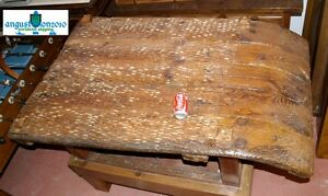 AUTHENTIC VERY ANTIQUE 18 19 TH C. CUSTOM FURNITURE TABLE FARM TOOL THRESHING