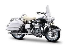 HARLEY DAVIDSON 1968 FLH ELECTRA GLIDE 1:18 NEGRO MODELO MOTO - DE METAL