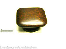 50 Pcs Lot Black Forest Beech Square Bedroom Cabinet Drawer Knob/Pull/Handle
