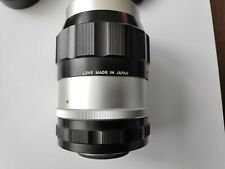 Nikon Nikkor-Q Auto 135mm F/3.5 Non-Ai MF Lens w/Hood and case excellent+++