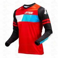 JITSIE L3 LINEZ Trials Jersey Shirt Top - Black / Red / Blue - NEW