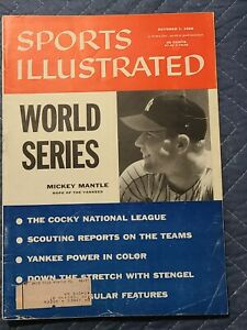 Sports Illustrated Mickey Mantle World Series Preview October 1  1956