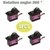 1 / 4Pcs MG90S Micro Metal Gear 9g Servo For Robot RC Plane Helicopter Boat Car