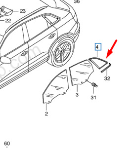 Audi Q3 8U Rear Left Side Quarter Window 8U0845299BNVB NEW GENUINE
