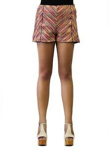 Lush High Waisted Tweed Shorts With Speckled Design And Faux Leather Lining