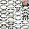 Fashion Men's Stainless Steel Chain Link Bracelet Wristband Bangle Jewelry Punk