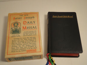 1959 Saint Joseph Daily Missal Confraternity Version-Original Box-Latin/ English