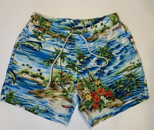 Polo Ralph Lauren Mens Swim Trunks Hawaiian Large