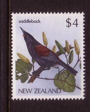NEW ZEALAND....  1985 native birds  $4 saddleback mnh