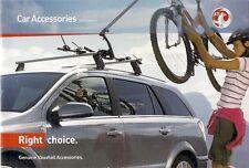 Vauxhall Accessories 2009 UK Market Brochure Agila Corsa Tigra Astra Insignia