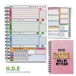 Journey Habit Tracker Wellbeing Planner Log Journal Book 💃Health HDE Mood Diary