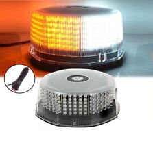 White Amber 240 LED Flash Strobe Rotating Round Beacon Roof top Emergency Light