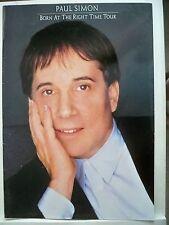 PAUL SIMON Souvenir Program BORN AT THE RIGHT TIME CONCERT TOUR 1991
