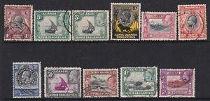 KUT KENYA UGANDA TANGANYIKA 1935 KGV SET TO 2/- FINE USED WITH BOTH 5c