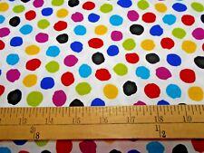 1 yard Quilting Treasures Tango Multi Color Dots Fabric
