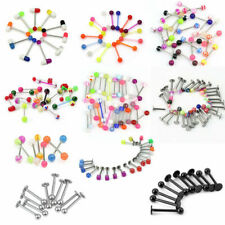Barbell Bars Ring Body Piercing Charming 100x Colorful Ball Tongue Navel Nipple