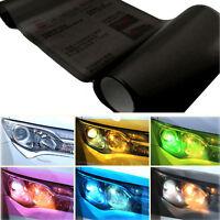 Black Car Headlight Tint Film Taillight Tail Vinyl Wrap Fog Light Films Sticker