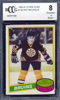 1980-81 OPC O-Pee-Chee #140 Ray Bourque Rookie Card Graded BCCG 8