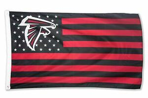 Atlanta Falcons 3x5 Foot American Flag Banner New