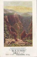 North Cheyenne Canon Wy Colorado Springs-Cripple Creek Short Line Postcard c1900