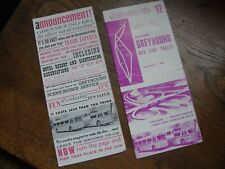 1960S ERA GREYHOUND BUS TIME TABLE & GREYHOUND BUS MAP ROUTE PLANNER