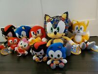 Sonic the Hedgehog Tails Knuckles Shadow Plush Authentic SEGA