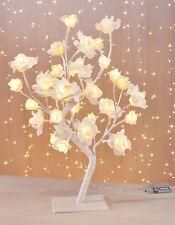 LED Lichterbaum Rosenbaum Lichterbäumchen Bäumchen Baum Rosen Blüten weiß Deko
