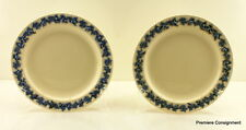 Pair of Wedgwood Queensware Lavender (Blue) on Cream Dinner Plates