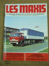 revue camions  LES MAXIS  janvier 1974  raid mission berliet volvo serie N  n°15
