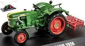 Deutz F2L 612/6 mit Zinkenegge 1956 Traktor Schlepper grün green 1:43