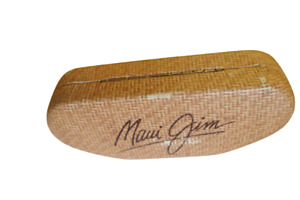 Maui Jim Hard Clamshell Protective Sunglasses Eyeglasses Case W/Cleaning Cloth