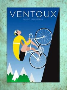 Deco Style Ventoux Cycling Poster Wall Decor Poster , no Framed