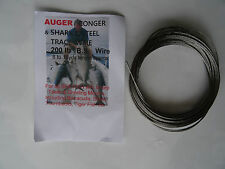 200lb BS Stainless Steel Fishing Wire & Crimps made in England