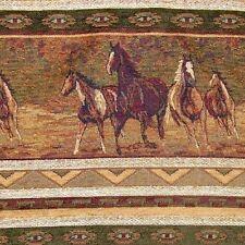 CAVALIA WILD MUSTANGS UPHOLSTERY FABRIC WESTERN LODGE HORSES STALLIONS FURNITURE