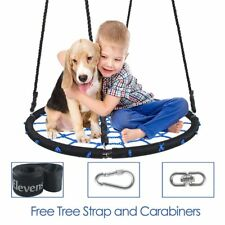 ELEVENS 40'' Spider Web Tree Swing with Swing Set Anchors and Tree Strap