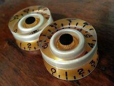 2 Guitar CTS Split shaft speed volume / tone knobs. Gold/Pearl white/Black.. JAT