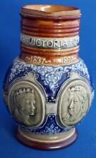 Antique Doulton Lambeth Stoneware Queen Victoria Jubilee Stoneware Jug