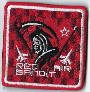 USAF 493rd FIGHTER SQUADRON RED AIR BANDIT MILITARY PATCH