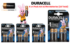 Duracell ULTRA 4 x AA 4pk Batteries,No1 lasting battery for all devices.