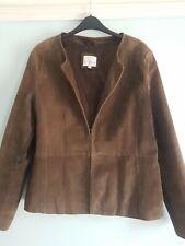 Ladies Genuine Suede Jacket Mocha Colour Size 16