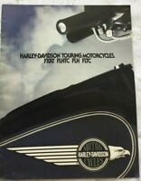 1983 Harley Davidson Touring Motorcycles Brochure : FXRT , FLHTC , FLH , FLTC
