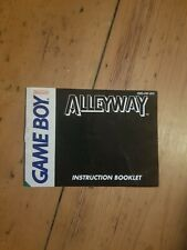 Alleyway Nintendo Gameboy Instruction Manual Only