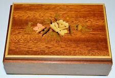 "Vintage REUGE Swiss Music Jewelry Box ""Doctor Zhivago"" Marquetry Inlaid Wood"