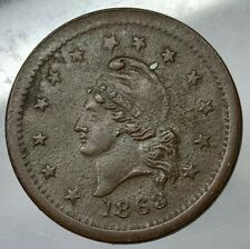 "Civil War Token,Patriotic, 1863 1 cent ""Wilson's Medal"" / Liberty F19/396, R2"