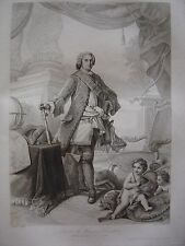 Grande gravure Portrait de LOUIS DE FRANCE Dauphin Fils de Louis XV 1765